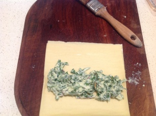 Rolling the cannelloni